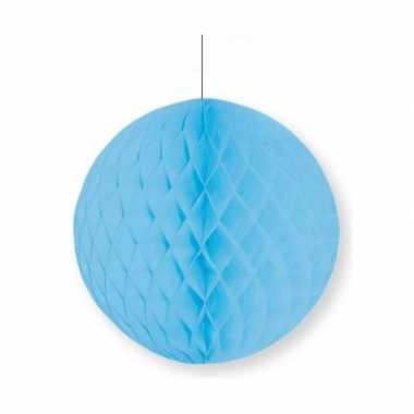 Kerst decoratie bol lichtblauw 10 cm