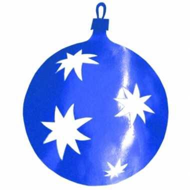 Kerstballen hangdecoratie blauw 40 cm