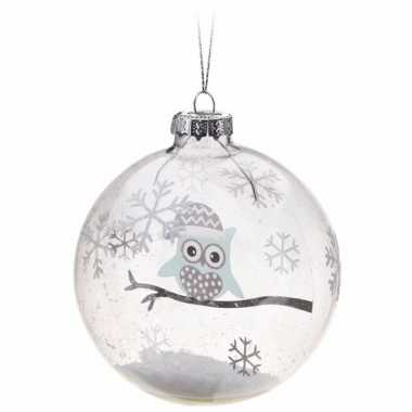 Kerstboom Decoratie Kerstbal Blauwe Uiltje 7 Cm Blauwe Kerstballen Nl