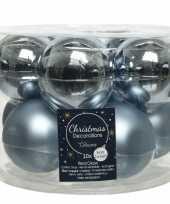 10x lichtblauwe glazen kerstballen 6 cm glans en mat