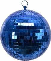 1x blauwe disco kerstballen discoballen discobollen foam 20 cm